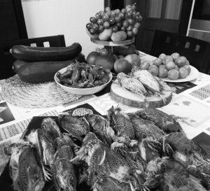 Pimientos-asados-codornices-silvestres-cocinandocaza
